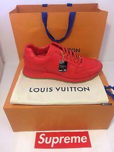 287ceb5d5a2b SUPREME X LOUIS VUITTON NIB Run Away Shoes RED 100% AUTHENTIC ...