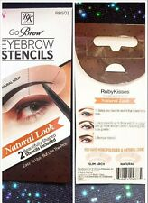RUBY KISS BY KISS GO BROW EYEBROW STENCILS NATURAL  LOOK RBS03