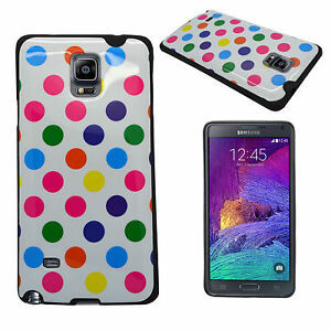 CASE-FOR-SAMSUNG-GALAXY-NOTE-4-MULTI-POLKA-DOT-PRINT-GEL-COVER