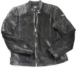 Details für großartige Qualität Sonderrabatt Details zu Tigha Herren Lederjacke Biker-Look Teo Black Gr. XXL UVP 299,95€
