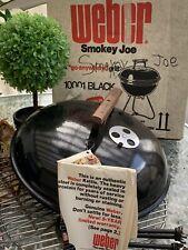 Vtg Unused Black Weber Smokey Joe Grill As Seen In Tv Triangular Leg Rare