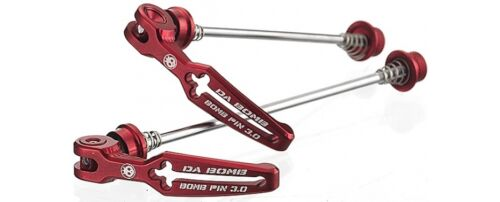 4 colors NEW Da Bomb BOMB PIN 3.0 MTB Quick Release Skewers 100//135mm 85g
