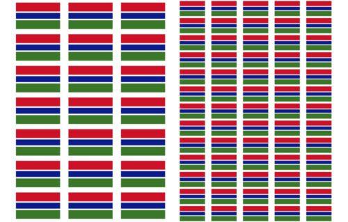 Gambia Flag Stickers rectangular 21 or 65 per sheet