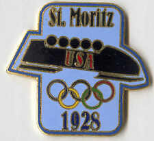 1996 ATLANTA OLYMPIC PIN RENDITION OF TEAM BADGE FROM ST. MORITZ 1928