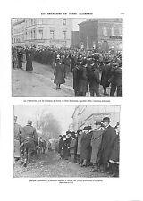 WWI Parade Défilé Infantry Sammies US Army Trèves Trier Germany  ILLUSTRATION
