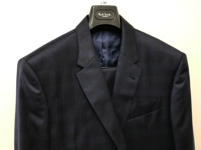 cb2e764cdec9d6 Paul Smith Byard Tonic Blue Suit Tailored Fit 84 Wool 16 Mohair ...