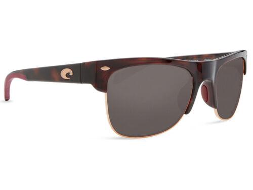 Gray 580 Glass 580G NEW Costa Del Mar PAWLEYS Rose Tortoise