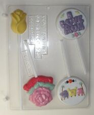 MOM CLEAR PLASTIC CHOCOLATE CANDY MOLD M010