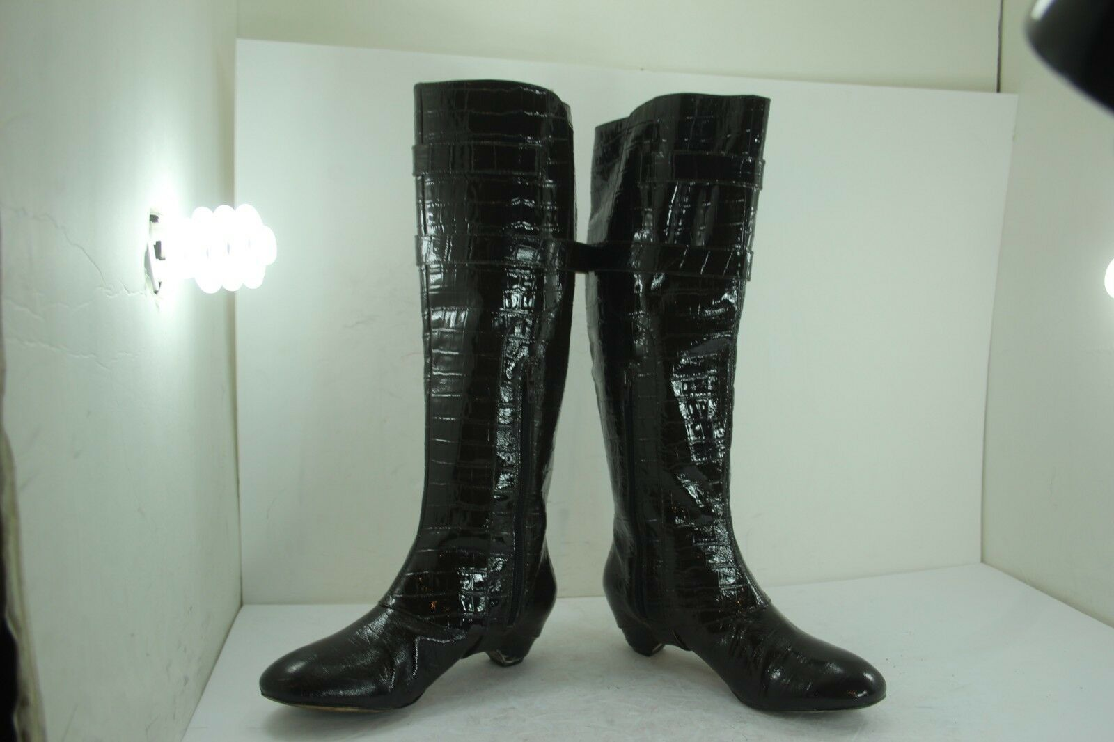 VELVET ANGEL BOOTS SIZE SIZE SIZE 37.5 (US SZ 7.5) LEATHER CROC PRINT IN GREAT CONDITION 15fe75