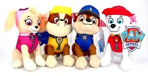 "New 8"" Paw Patrol Plush Stuffed Animal Toy Set: Chase, Rubble, Marshall & Skye"