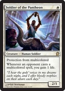 FOIL-Soldier-of-Pantheon-Soldier-of-the-pantheon-MTG-MAGIC-THS-Theros-Eng
