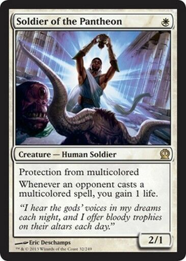 FOIL Soldier of Pantheon - Soldier of the pantheon MTG MAGIC THS Theros Eng