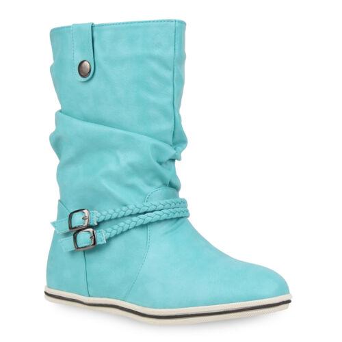 Trendy Boots Damen Stiefel 94582 Größen 36-41 Schuhe