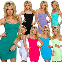 Damen Träger Kleid Trägerkleid Smok Sommerkleid S 36 Party Freizeit Mode Cockail