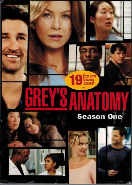 GREY'S ANATOMY SEASON ONE (Patrick Dempsey) DVD | eBay