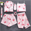 Sleepwear-7-Pieces-Pyjama-Set-2019-Women-Spring-Summer-Sexy-Silk-Pajamas-Sets-Sa miniatura 34