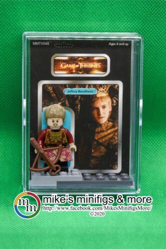 Game of Thrones JOFFREY BARATHEON Custom Carded Minifigure Display Minifig GoT