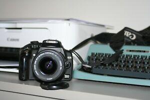 Fotocamera-Canon-EOS-350D-reflex-digitale-obiettivo-Canon-18-55-400d-450d