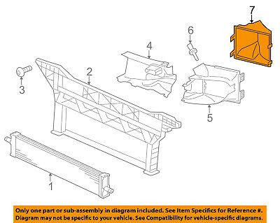 PORSCHE OEM 12-16 Panamera 3.0L-V6 Radiator-Rear Duct Right 97057564201