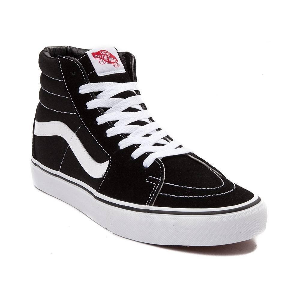 outlet store 4a0c0 7161a Men Vans SK8-HI Black Skateboarding Skateboarding Skateboarding Shoes  Classic Canvas Suede size US 4.5