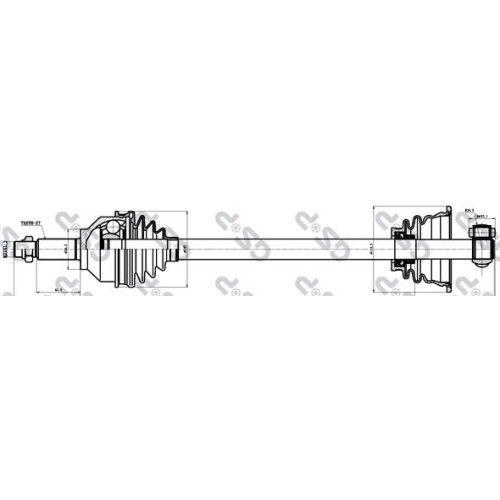 GSP ANTRIEBSWELLE GELENKWELLE LINKS RENAULT OPEL 2740553