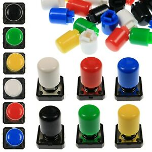 A56 Tactile Cap /& Switch Round Flat Keycap Momentary Push Button 6 Colours