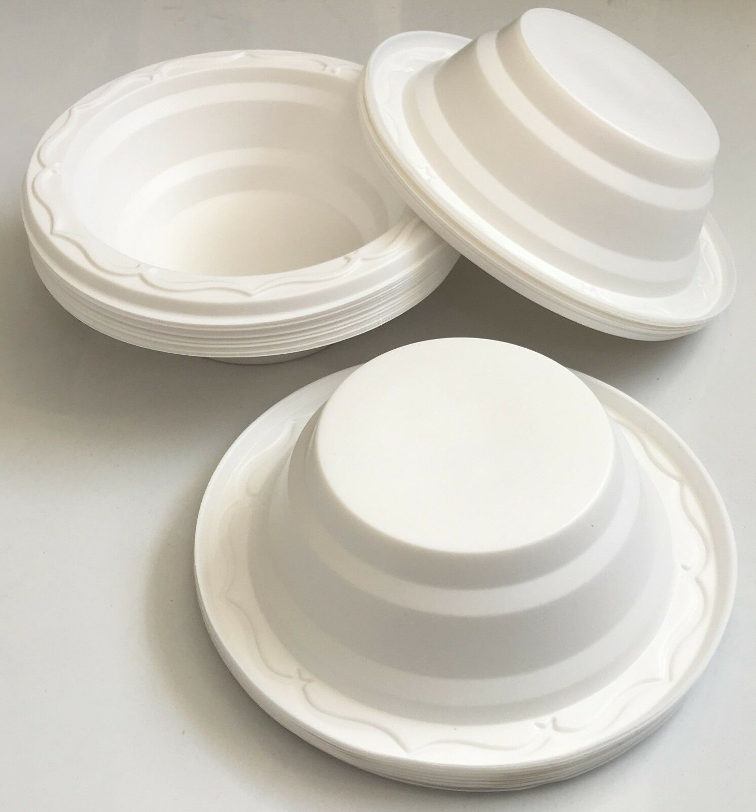 Plastic Bowl Dessert Soup Catering Disposable Party Wedding Birthday S   M   L