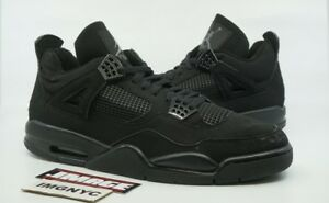 33ae693e8e7516 AIR JORDAN IV 4 RETRO USED SIZE 15 BLACK CAT BLACK LT GRAPHITE ...