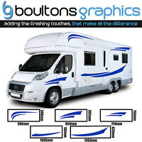 MOTORHOME STRIPES - Camper Van Horsebox Caravan Decals Vinyl Sticker Graphic SS1