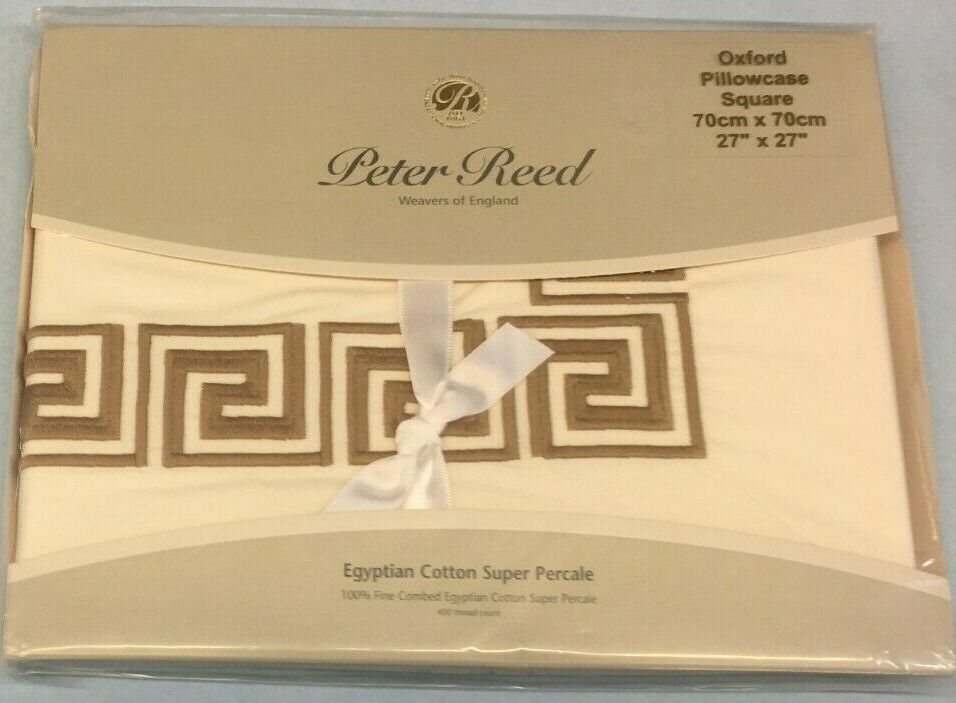 Peter Reed Embroidered Egyptian Cotton Euro Sham Made in England 27