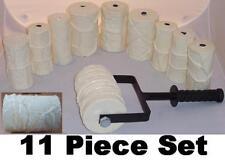 Concrete Cement Landscape Curbing Texture Imprint Machine 11 Roller Set New