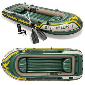 Schlauchboot-Set-Seahawk-4-Paddel-Pumpe-Angelboot-4-Personen-von-INTEX