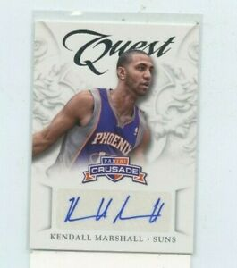 KENDALL-MARSHALL-2012-13-Panini-Crusade-Quest-Rookie-Auto-Autograph-43