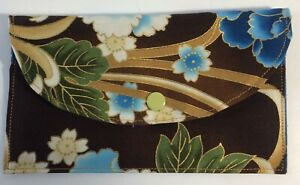 Handmade-Fabric-Bags-Clutch-Snap-Closer-4-034-X6-5-034-2-Inner-Pockets-Asian-Fabric