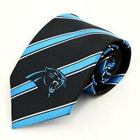 Carolina Panthers Mens Necktie Nfl Football Team Sports Fan Striped Neck Tie