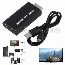 PS2 to HDMI Audio Video AV Adapter Converter w/3.5mm Audio Output for HDTV Hot