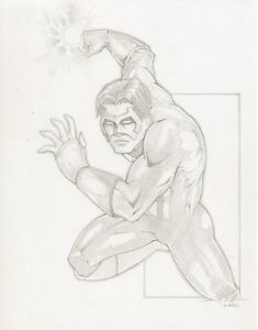 Green Lantern Pencil Commission - 2006 Signed art by Dennis Willman
