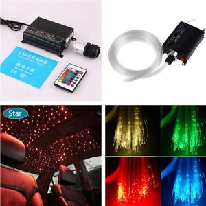 Car-LED-Ceiling-Light-Fiber-Optic-Star-Kit-RGBW-Light-Source-300pcs-Fiber-Cables