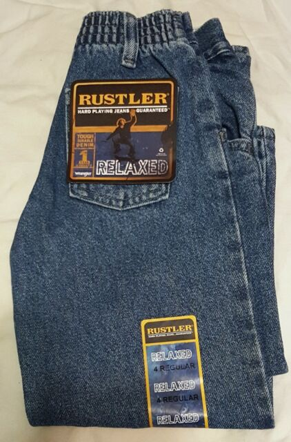 Rustler By Wrangler Boys Jeans 4 Regular Relaxed Stressed Blue Elastic Back For Sale Online Ebay Browse rustler jeans for men and boys here and we'll. rustler by wrangler boys jeans 4 regular relaxed stressed blue elastic back