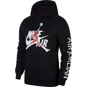 Nike-Air-Jordan-Jumpan-Logo-Top-Mens-Hoodie-Black-Size-M-Pullover-Sweatshirt