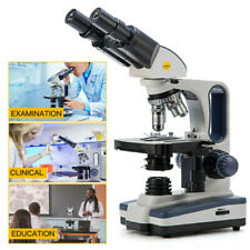 Us Swift 40x 2500x Binocular Lab Compound Microscope With 3d Mechanical Stage Led