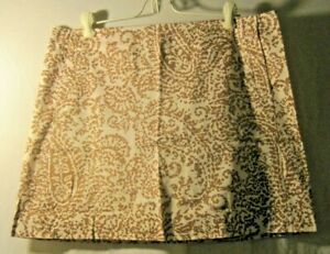 J-Crew-Size-10-Brown-and-White-Skirt
