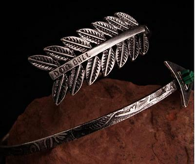 Bohemian Ethnic Bangle Bracelet Open Arm Cuff Vintage Arrow Armlet Upper Arm
