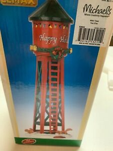 Lemax HAPPY HOLIDAYS WATER TOWER Holiday Village /Train/Carnival Accent