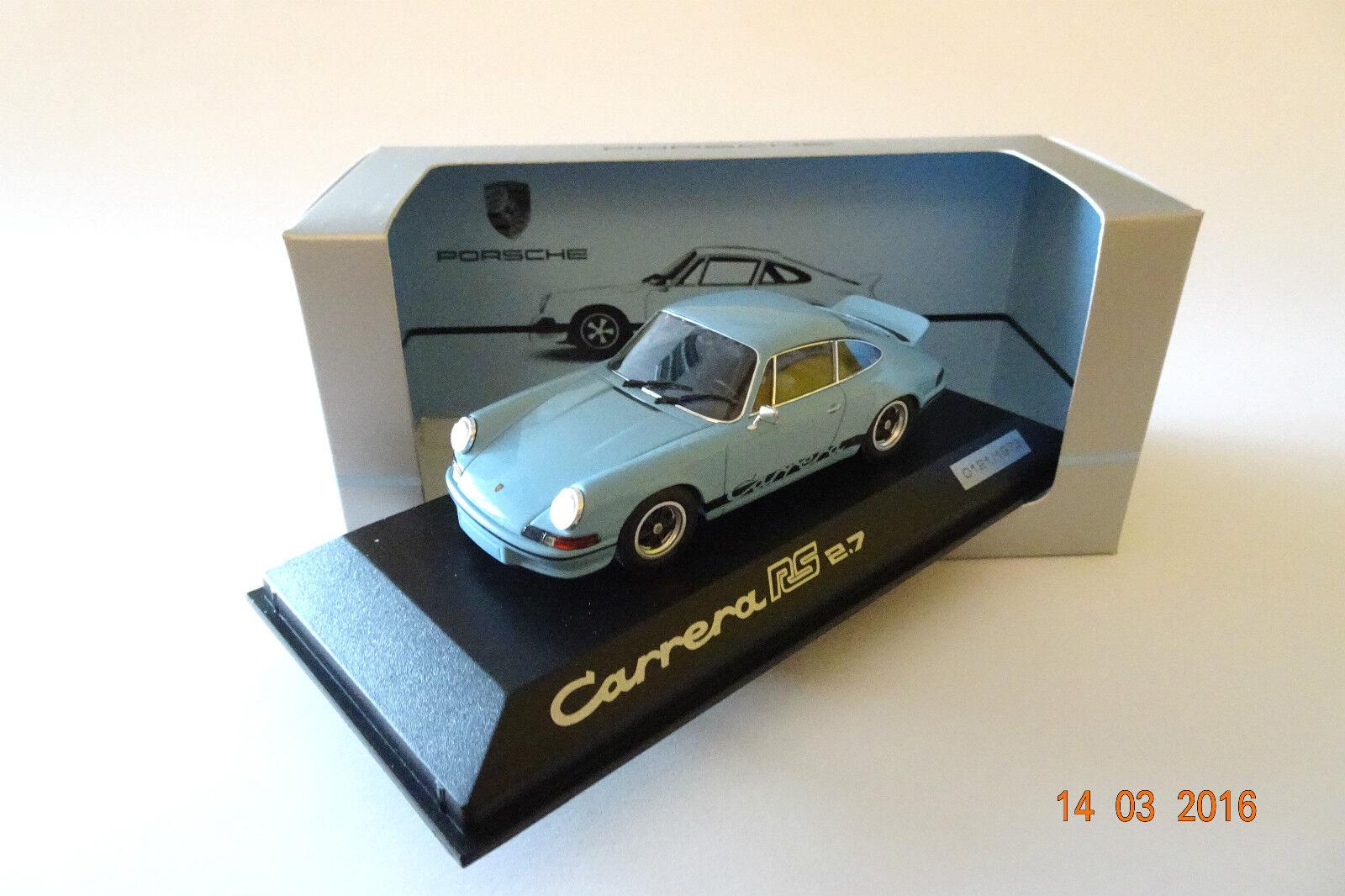 1973 PORSCHE 911 Carrera RS 2.7 blu BLU 1 43 Minichamps WAP spacciatore
