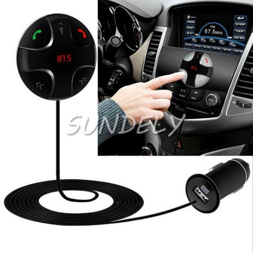 Black UK FM Bluetooth BT3.0 Handsfree Car Kit FT Player & USB Charger Magnetic