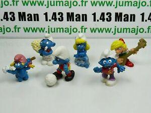 LOT8-Figurine-PVC-schleich-6-SCHTROUMPF-smurf-puffi-pituffo