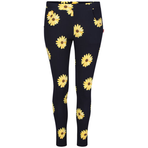 NEW CELEBRITY WOMENS LADIES AUTUMN ROSE PRINT TROPICAL CREPE TROUSERS