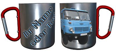 NAME TASSE KARABINER-BECHER THERMOBECHER LKW TRUCK TRAILER 18 09 TEXT