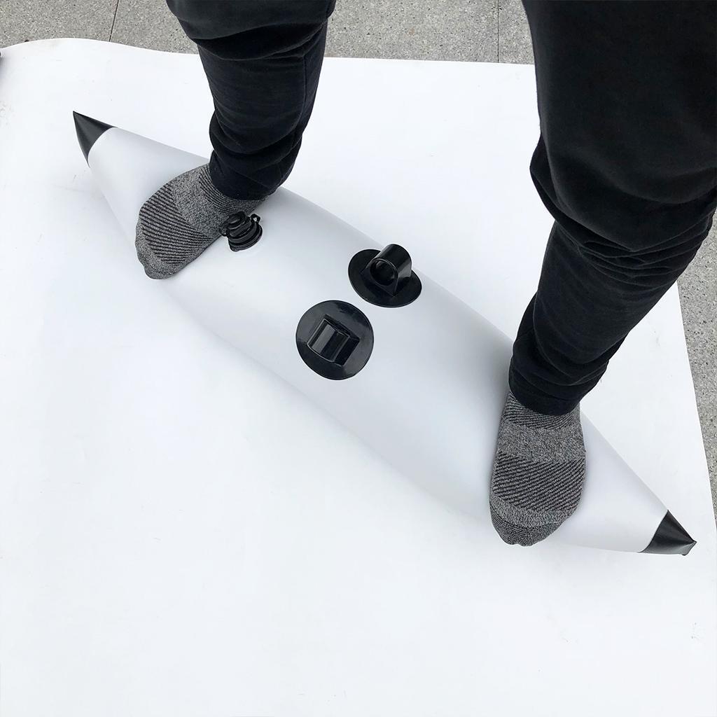 Kajak Anfänger Stiefel Standing Anfänger Kajak 2x Outrigger Stabilisator & elastische Paddel 790136